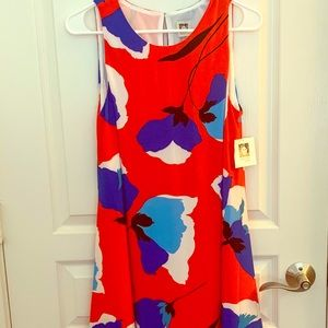 New Anne Klein Floral Sleeveless Dress Size 8